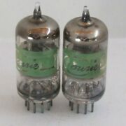 Pair Courier Branded Cb/ham Radio 6gh8a Vacuum Tube Hickok Tested