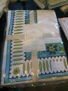 Williams Sonoma La Med Lamed Tablecloth 70 X 108 + 8 Napkins Cotton New W Tags