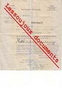Ww1 French Official War Document 1914/19- Signed Georges Clemenceau