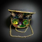 Steampunk Hat Burning Man Cosplay Costume Top Hat For Festival Outfit Mardi Gras