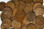 1918 D 50 Count Roll Of Lincoln Wheat Pennies No Culls