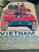 1970 Vintage Support Our Boys In Vietnam Black Light Poster 24x 35 Rare