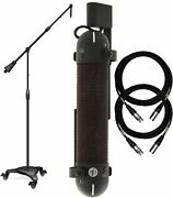 Aea R88 Stereo Ribbon Microphone With Studio Boom Stand And Cables