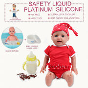Ivita 20'' Lifelike Silicone Reborn Baby Girl Dolls Baby+clothes Kids Playmate