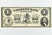 1800and039s Citizensand039 Bank Of Louisiana One Dollar American Bank Note