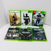 Call Of Duty World At War Black Ops Ghost Mw 2 3 Battlefield 3 Xbox 360 Lot Of 6