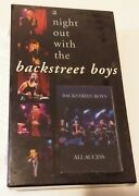 Rare Vintage New - A Night Out With The Backstreet Boys 1998 Vhs + Cd Set