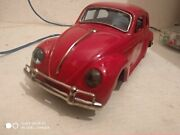 Vintage Tin Toy Car Made In Japan Volkswagen Tin Battery Mint
