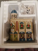 Dept 56 Hollydaleand039s Department Store New Includes 6 Metal Flags