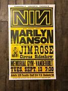 Nine Inch Nails Marilyn Manson 1994 Hatch Show Print Poster Jim Rose Circus
