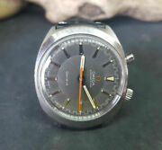 Rare Vintage 1968 Omega Chronostop Driver Grey Dial Manual Wind Manand039s Watch