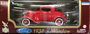 1932 Ford 3 Window 118 Diecast Road Legends- Red Licensed Product By Fordandnbsp