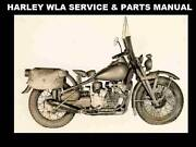 Harley Davidson Wla Service And Parts Manuals 270pgs With Ww2 Motorcycle Repair