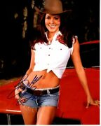 Brooke Burke Signed Autographed Sexy Cowgirl Photo
