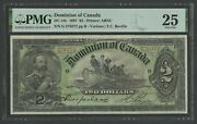 Canada Dc-14c 2 1897 Dominion Of Candad Note Pmg 25 Choice Vf Wln405