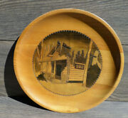 Swedish Vintage Wooden Wall Hanging Plate. Hand Made And Hand Carved.swedish Rus