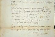 Very Rare Letter Of / The Large Jurisconsult Nivernais Guy Coquille
