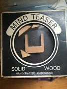 Vintage Executive Puzzle Wood Mind Teaser Game In Original Box Made In Japan