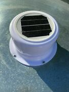 Solar Vent Fan Cargo Trailer Utility Enclosed Cooling No Wiring Easy Install
