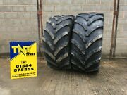 A Pair Of 600/65r30 Firestone Maxi Traction 155d/152e Tl Tractor Tyres