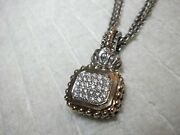 A. Vahan Sterling Silver And 14k Yellow Gold Diamond Pendant Necklace Id 70542d
