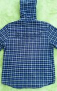 The Hundreds Flannel Jacket Big Logo Embroidery Hood Grail Rare Stussy Sup.