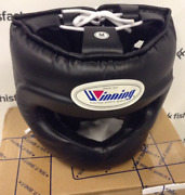 Winning Fg-5000 Boxing Head Gear Full Face Black Size M Made In Japan New