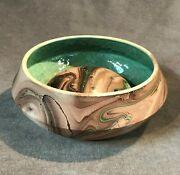 Painted Desert Pottery Mission Swirl 2-piece Vase / Planter With Flower Frog