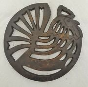 Old Mountain Rooster Hen Trivet Cast Iron C2011 Kitchen Camper Ranch
