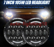 Top 7and039and039 105w Round Original Osram Chips Hi/lo Beam Headlight For Jeep Wrangler