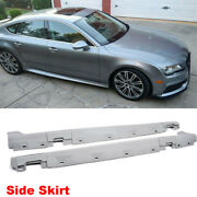 Body Kit Side Skirts Spoiler For Audi A7 Rs7 12-14 Unpianted Pu Gray Primer 2pcs