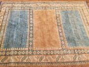 Handmade Pure Wool Kazakh Rug Antique Look Size 4and0395x6and039 Soft Colors