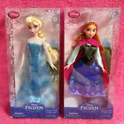 Disney Frozen Elsa And Anna Classic Doll Collection Lot Set Of 2 New