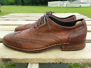 Cole Haan Air Colton Wing Tip Oxfords Shoes Distressed Brown C10027 Mens 9 M