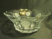 Fostoria Clear Coin Glass Punch Bowl Pressed Glass Frosted Designs