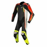 Alpinestars Gp Tech V2 White Red Sports Motorcycle 1pc Suit Tech Air Compatible