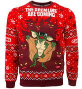 Official Gremlins Knitted Christmas Jumper Ugly Sweater Mogwai Retro Movie Film
