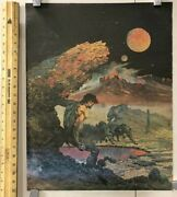 Vintage Poster Comic Book Style Desert Wolves Hunting Man Classic