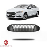 Fits Ford Fusion 2013-2016 Front Upper Grille Grill Honeycomb Mesh Matte Black
