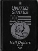 Unisafe Coin Folder 125 - United States Usa Half Dollars 50andcent - Blank / No Dates