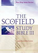 The Scofield Study Bible Iii, Nkjv, Large Print Edition Leather Bound –...