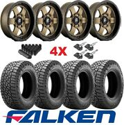 Bronze Fuel Wheels Rims Tires 265 60 18 Falken Wildpeak Tacoma 4 Runner Tundra