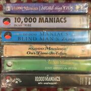 10,000 Maniacs Sealed 6 Lot Mtv My Tribe Blind Man Zoo Eden Love/ruins More/this