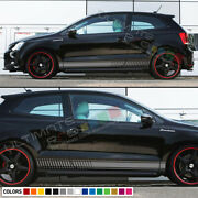 Decal Sticker Racing Stripes Kit For Volkswagen Vw Polo R Fender Bumper Panel Gt