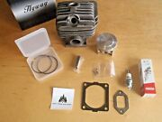Hyway Cylinder And Pop Up Piston With Caber Rings For Stihl 046 Ms460 52mm