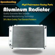 Aluminum Radiator For Ford Mustang Gt Gl Glx Gt Ghia L4 L6 V8 79-93 52mm 3row At