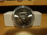 2016 Canadian 5 Maple Leaf Superman 1 Oz .9999 Silver Coin. Sealed In Capsule