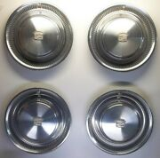 1974-1975-1976 Cadillac Deville Lot Of 4 Hub Caps Wheel Covers 15 Inch
