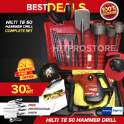 Hilti Te 50 Hammer Drill, Preowned, Your Choice, Bits, Extras, Fast Ship