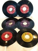 Collectible Vintage Mix Lot Of 6 45rpm Records Columbia/capital/philly No Sleeve